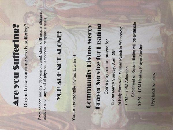 Community Divine Mercy Prayer Service for Healing | Three